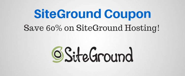 Siteground Coupon Code & promo code 2018