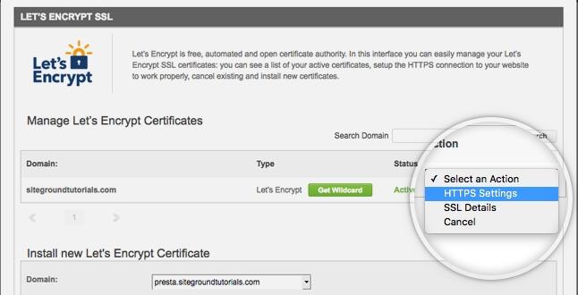 Siteground Let's Encrypt