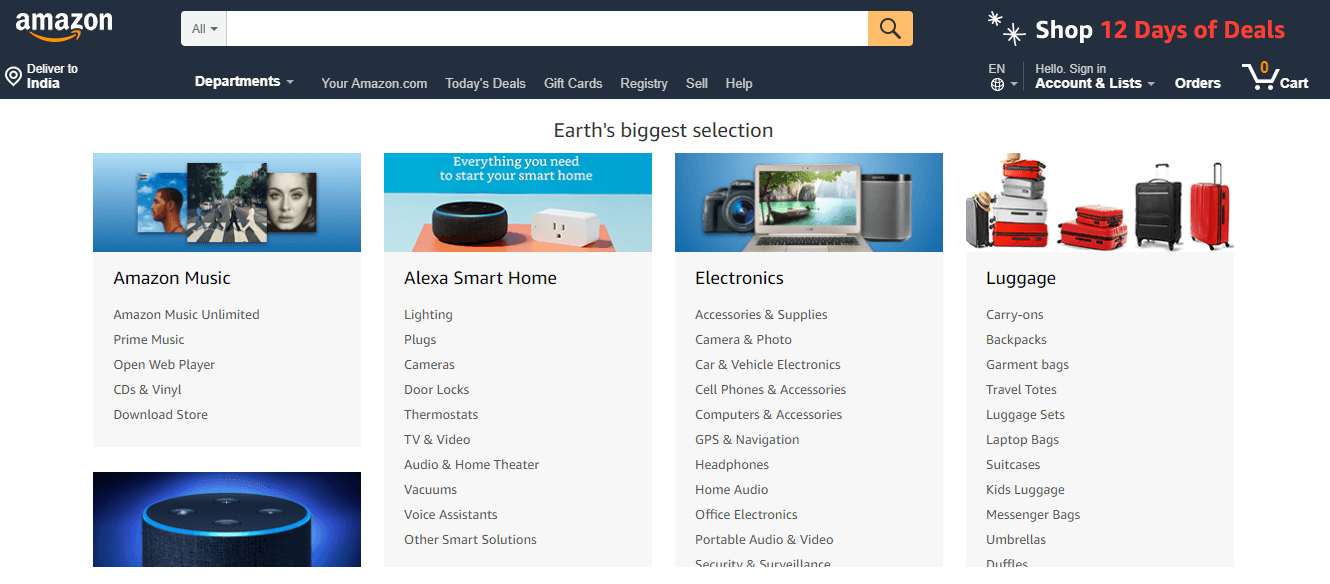 Amazon for finding the niche