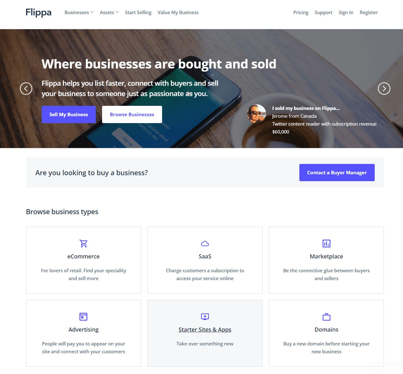 flippa for choosing the niche