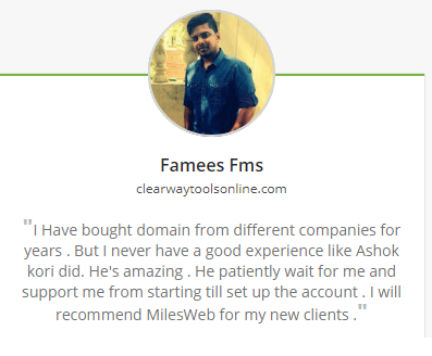 Mileweb Review: Customer Review