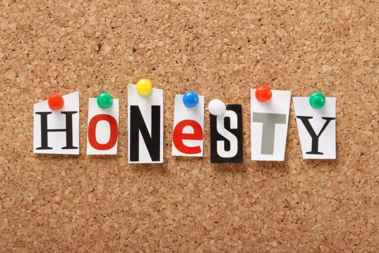 Honest to readers