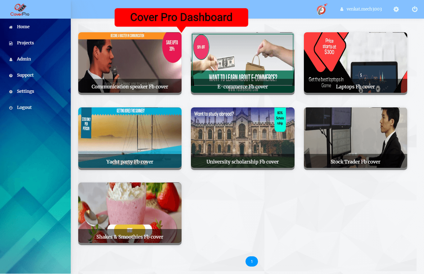 2.Cover Pro Dashboard