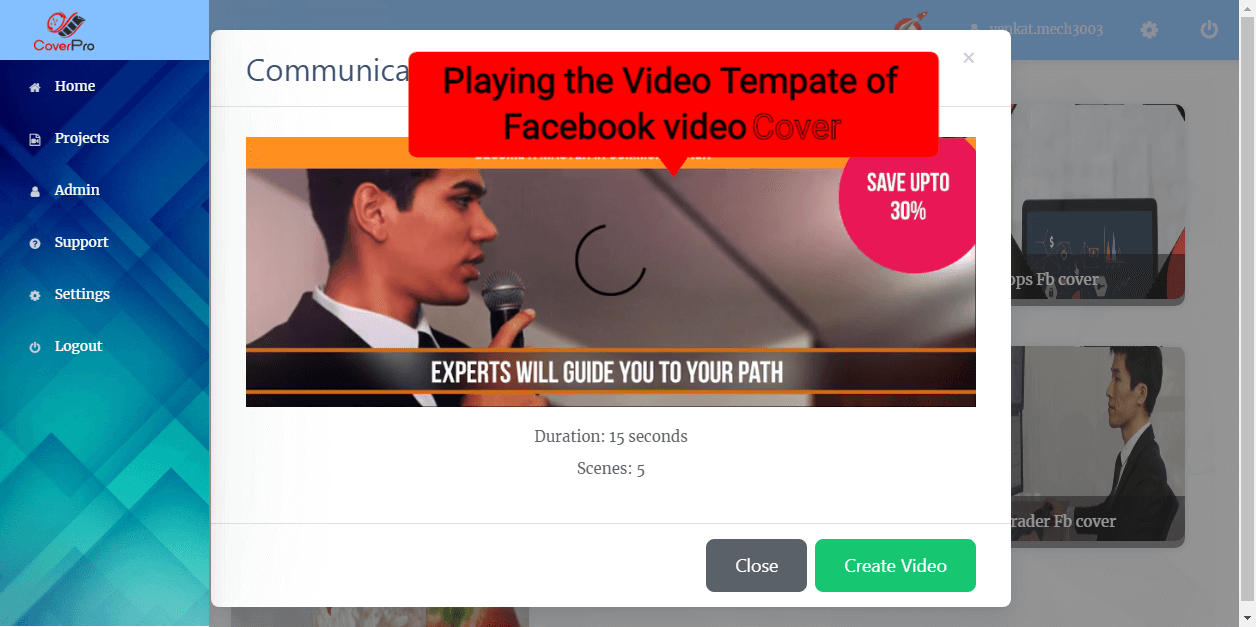 Facebook video cover