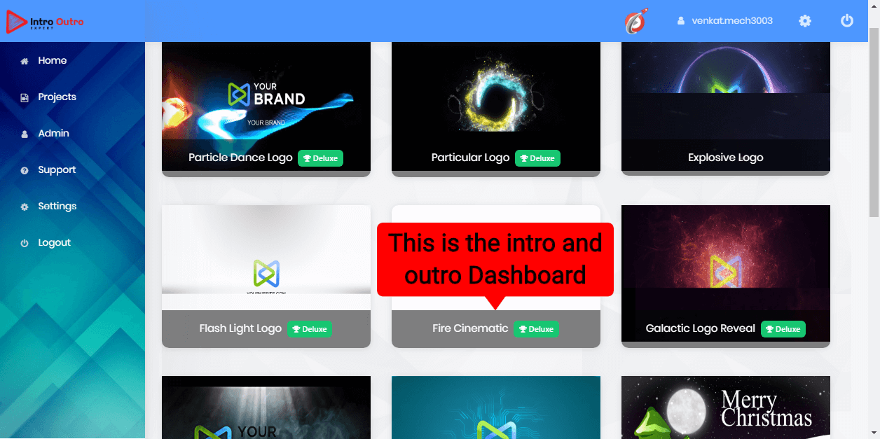 Video App suite Review-Intro&Outro Dashboard (1)