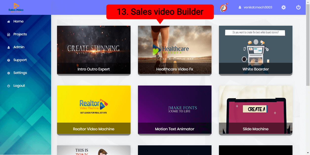 13.sales Video Builder