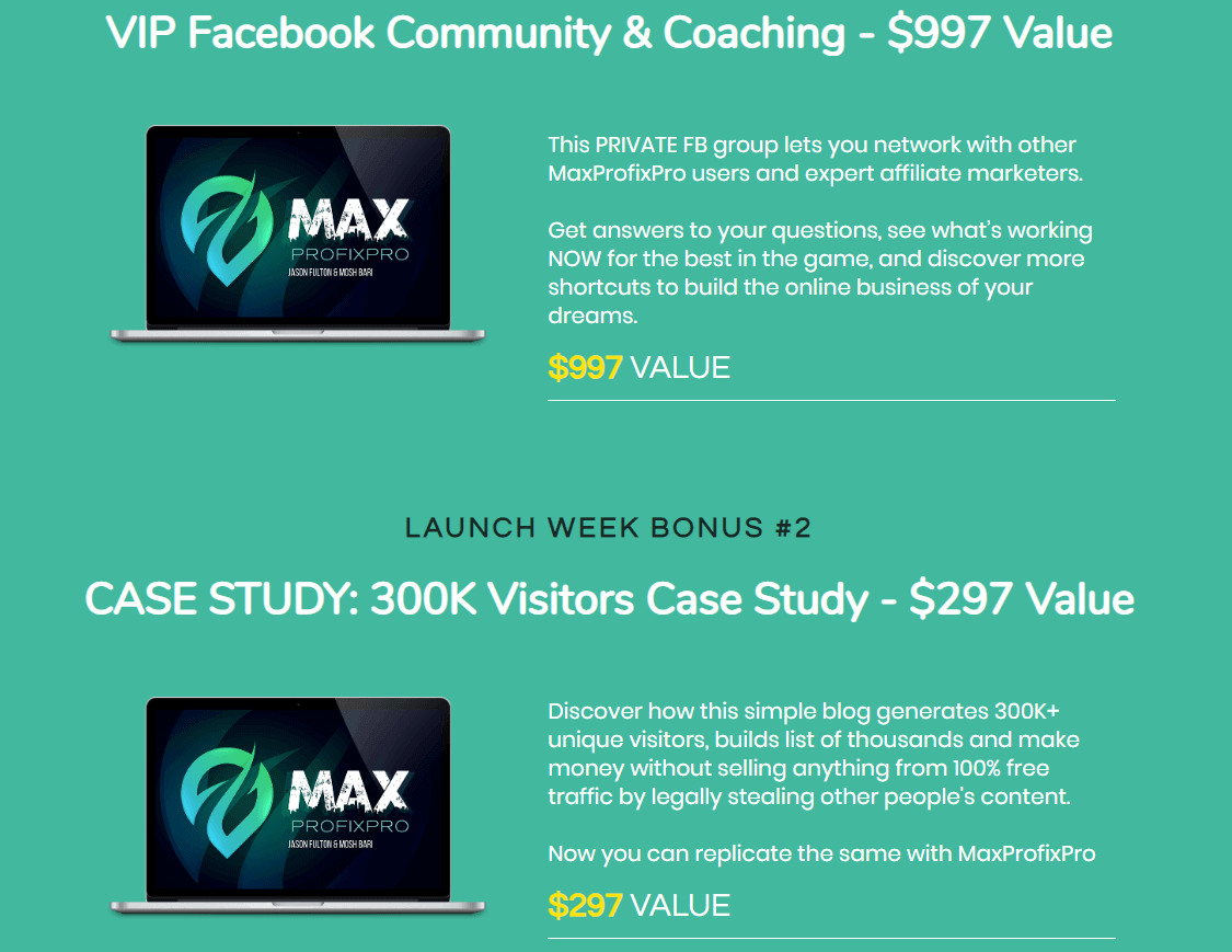 MaxProfixPro Review Bonuses