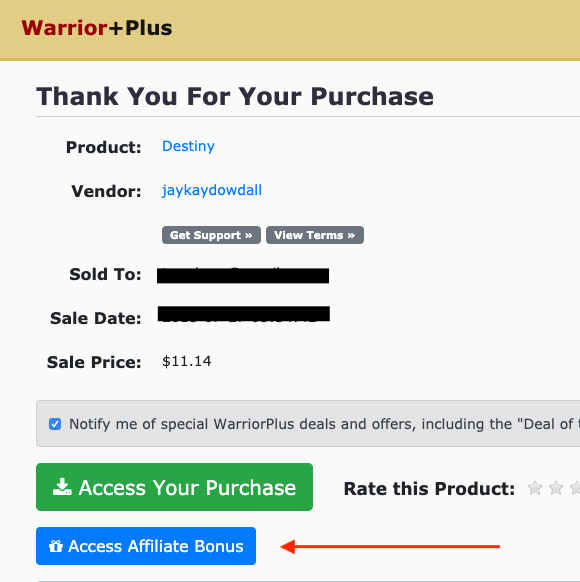 Bonuses warriorplus