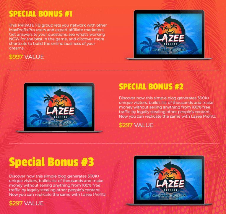 Lazee Profitz Bonuses